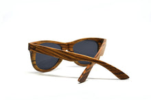Load image into Gallery viewer, Classic Wayfarer Style Sunglasses - Solid Zebra Wood - Keepwood Eyewear