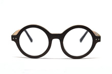 Load image into Gallery viewer, Lennon Round Eyeglasses - Black Sandalwood - Keepwood Eyewear