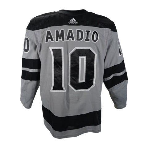 Michael Amadio LaDue Game-Worn Silver Jersey 2019-20 Season