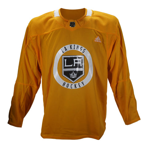 Official LA Kings Gold Team-Issued Practice Jersey