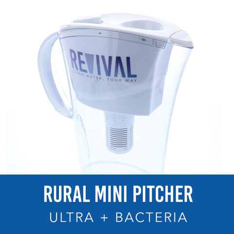 RURAL: ULTRA + Bacteria Mini Water Pitcher