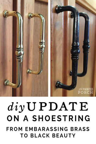 How to update brass hardware without paint for cheap