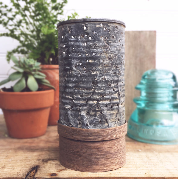DIY Rustic Industrial Farmhouse Candle Holder