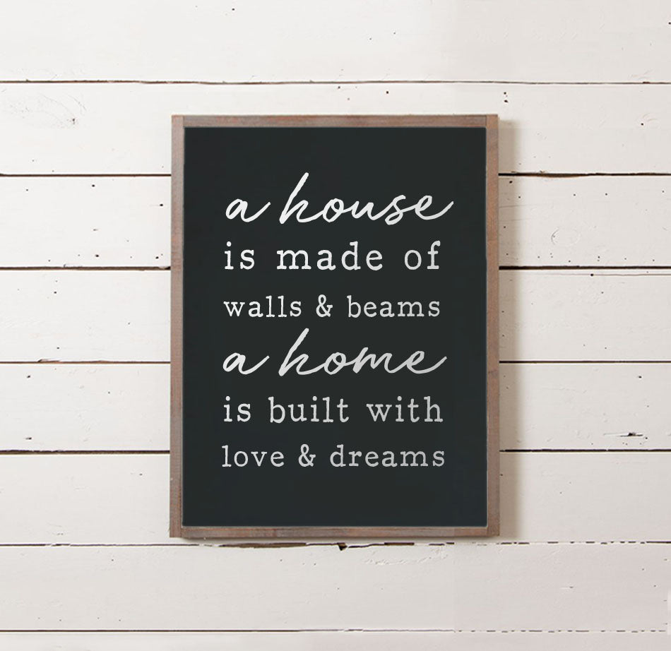 A Home is Built Wall Sign - The Painted Porch Co