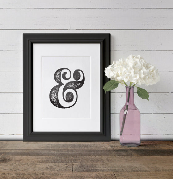 Ampersand Art Print - The Painted Porch Co