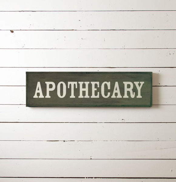Apothecary Wall Sign - The Painted Porch Co