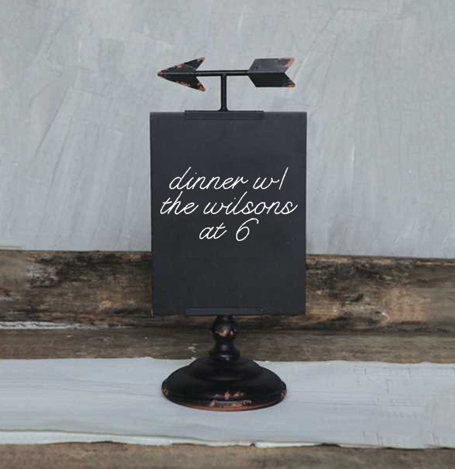 Chalkboard Arrow Stand - The Painted Porch Co