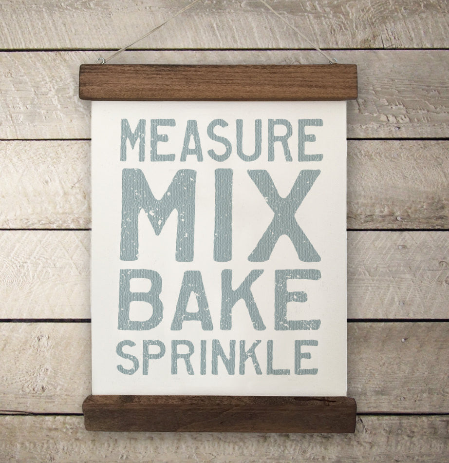 Baker's Vintage Style Wall Hanging - The Painted Porch Co