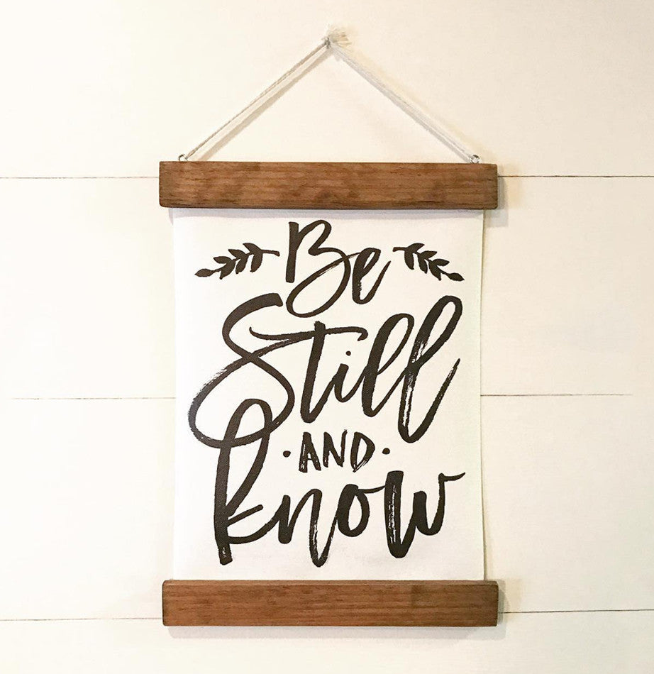 Be Still Vintage Style Wall Hanging - The Painted Porch Co