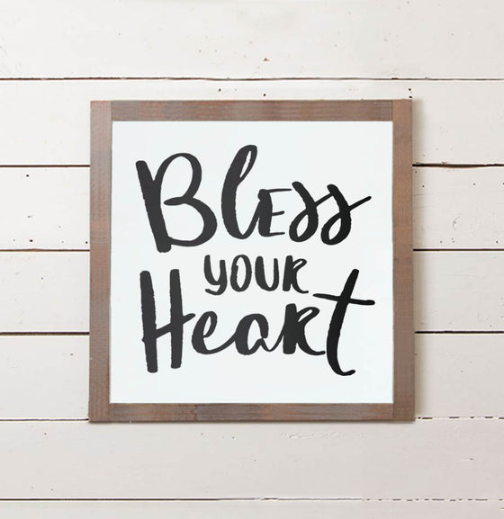 Bless Your Heart Wall Sign - The Painted Porch Co