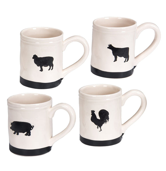 Chalkboard Farm Animal Mugs - The Painted Porch Co