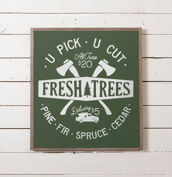 U-Pick U-Cut Christmas Tree Sign - The Painted Porch Co