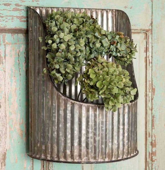 Corrugated Half Round Wall Bin - The Painted Porch Co