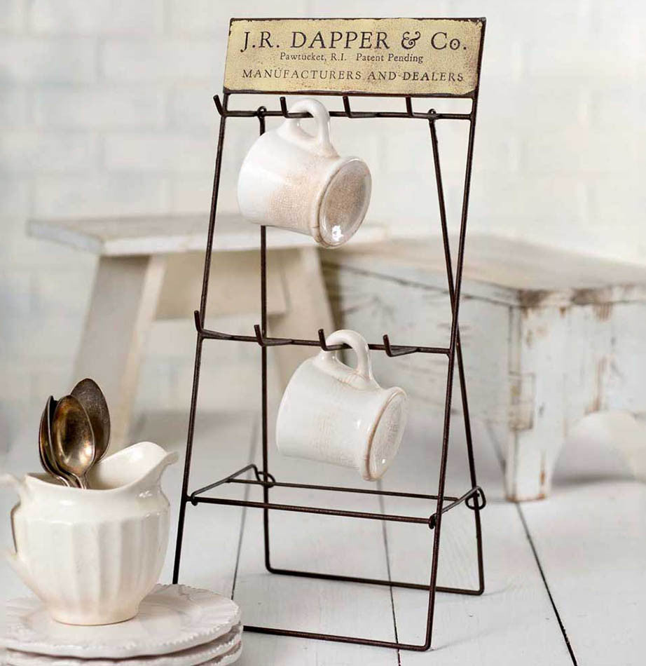 Dapper Folding Mug Rack - The Painted Porch Co