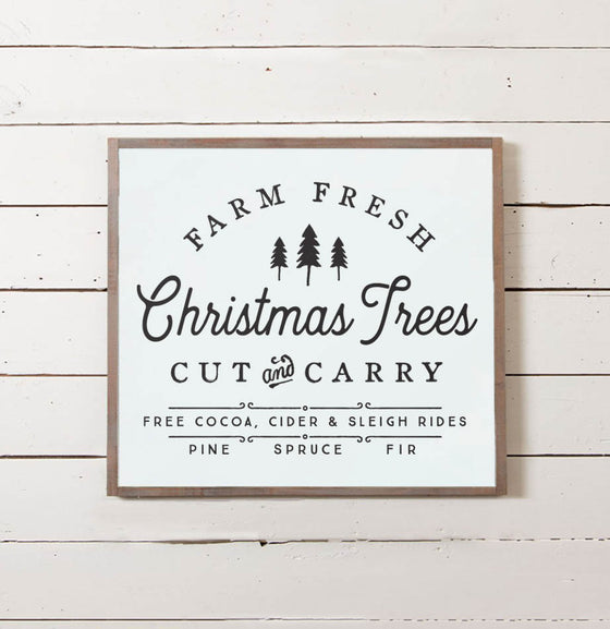 Farm Fresh Christmas Tree Sign - The Painted Porch Co