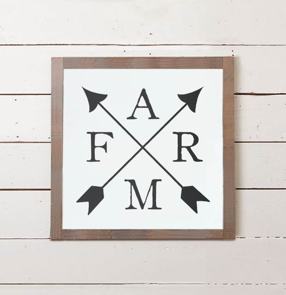 FARM Crossed Arrows Wall Sign