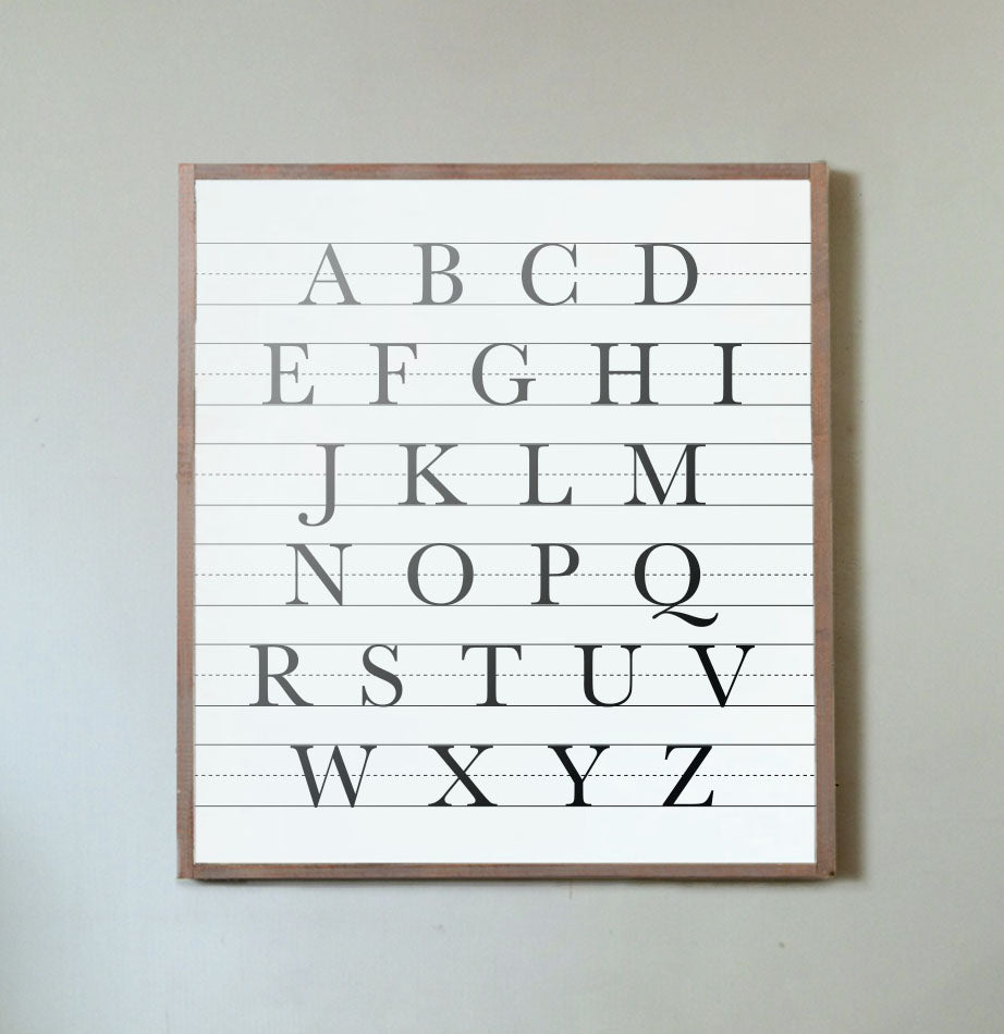 Uppercase ABCs Wall Sign - The Painted Porch Co