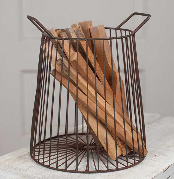 Farmhouse Metal Basket - The Painted Porch Co