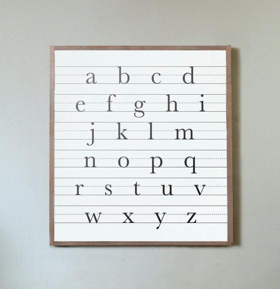 Lowercase ABCs Wall Sign - The Painted Porch Co