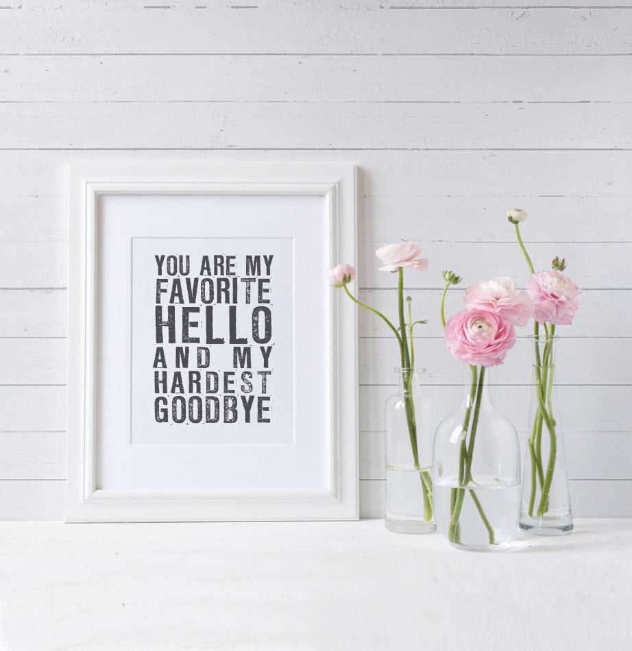 My Favorite Hello Art Print - The Painted Porch Co