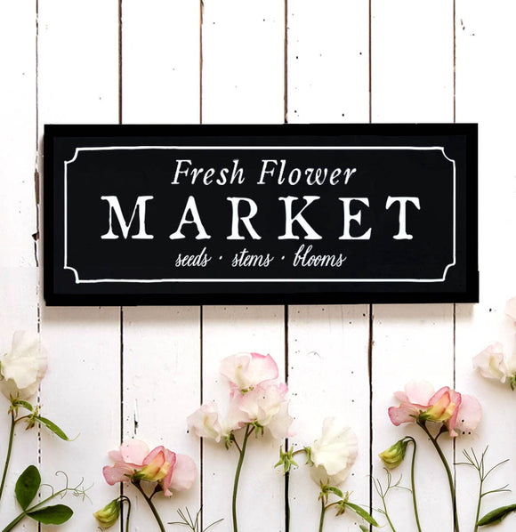 Flower Market Wall Sign - The Painted Porch Co