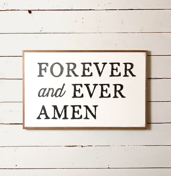 Forever and Ever Amen Romantic Wall Sign - The Painted Porch Co