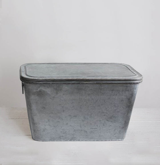 Galvanized Metal Covered Boxes - The Painted Porch Co
