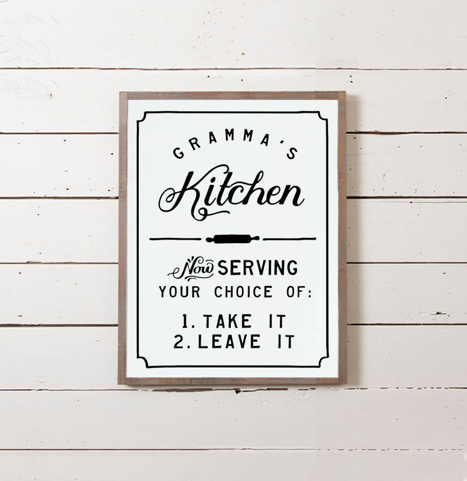 Gramma's Kitchen Wall Sign - The Painted Porch Co