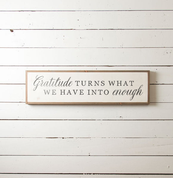 Gratitude Wall Sign - The Painted Porch Co