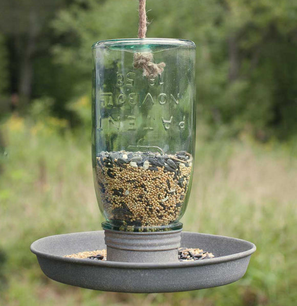 Hanging Mason Jar Bird Feeder - The Painted Porch Co