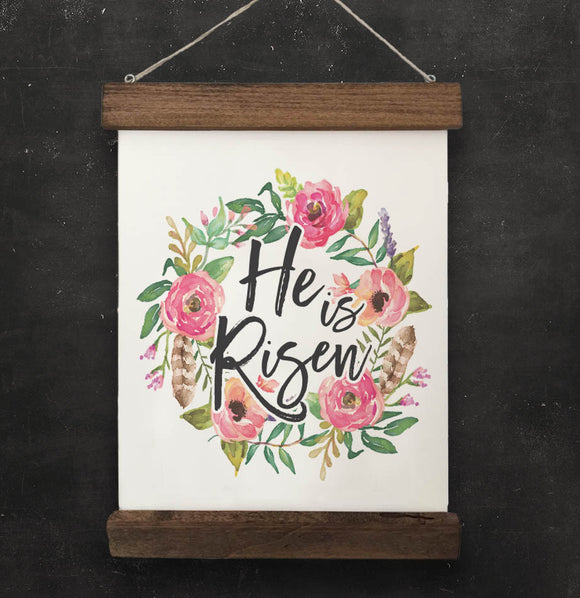 He is Risen Easter Wall Hanging - The Painted Porch Co