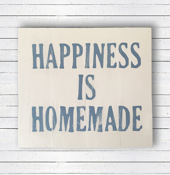 """Happiness is Homemade"" Wall Art - The Painted Porch Co"
