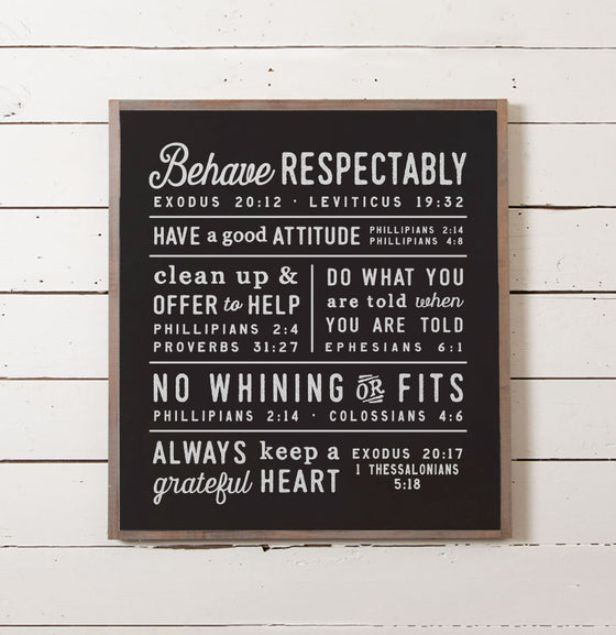 Scripture House Rules Sign - The Painted Porch Co