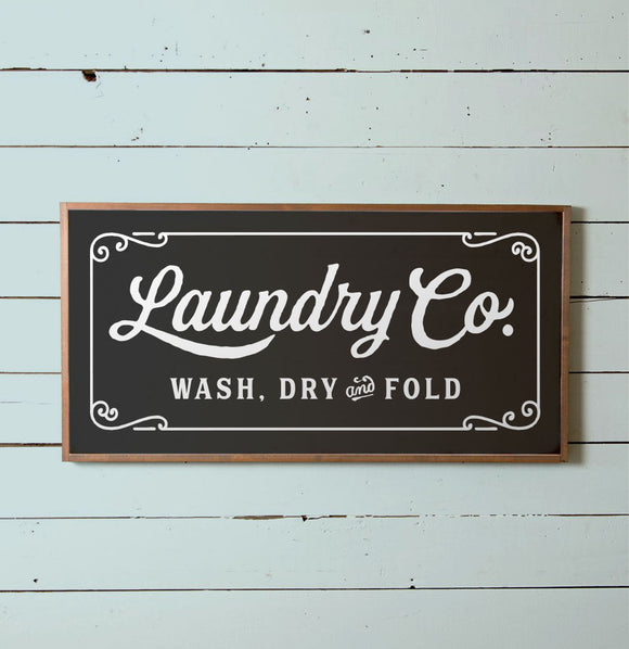 Large Laundry Wall Sign - The Painted Porch Co