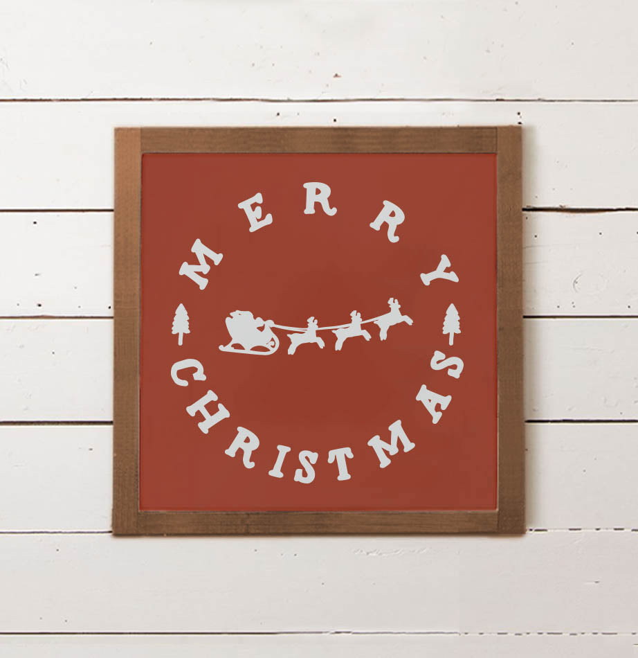 Santa's Sleigh Wall Sign