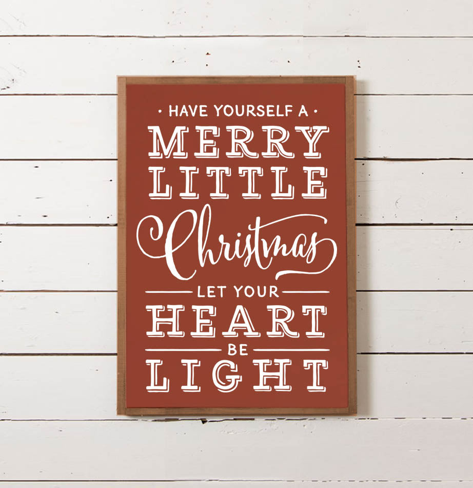 Merry Little Christmas Wall Sign - The Painted Porch Co
