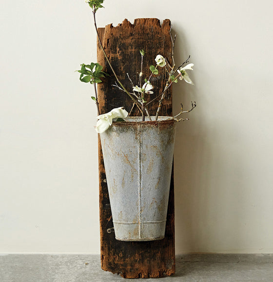 Metal Wall Bucket - The Painted Porch Co