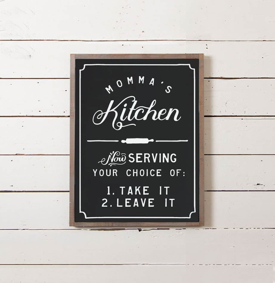 Momma's Kitchen Wall Sign - The Painted Porch Co