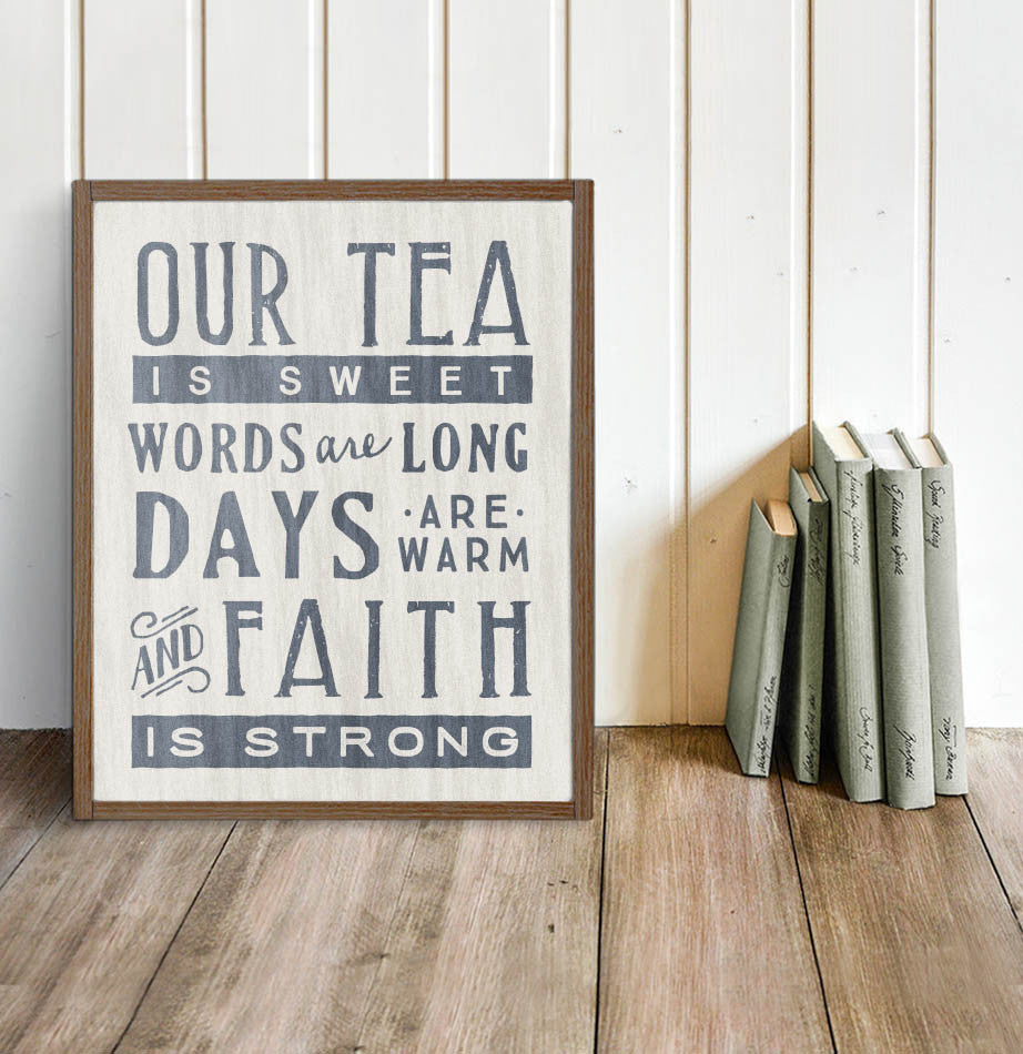 Poem of the South Wall Sign - The Painted Porch Co