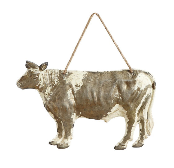 Rustic Embossed Tin Cow Wall Decor - The Painted Porch Co