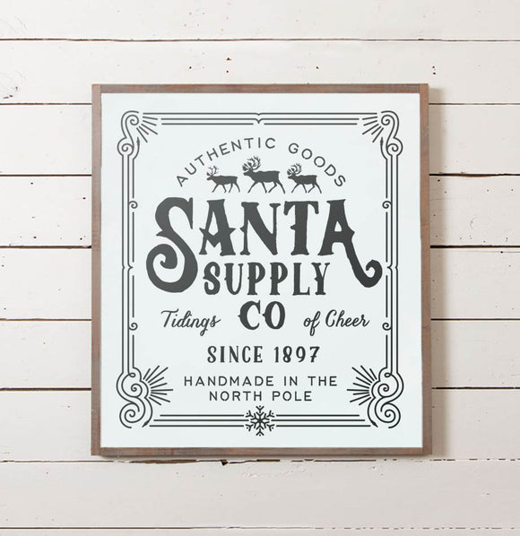 Santa Supply Christmas Sign