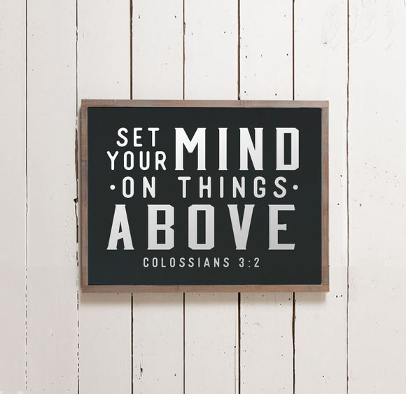 Set Your Mind Wall Sign - The Painted Porch Co