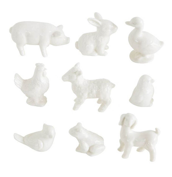 Boxed Set of 9 Stoneware Barnyard Animals - The Painted Porch Co