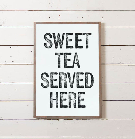 Sweet Tea Served Here Wall Sign - The Painted Porch Co