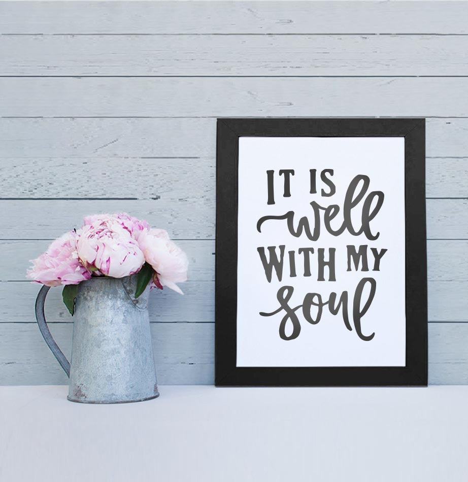 It Is Well Art Print - The Painted Porch Co