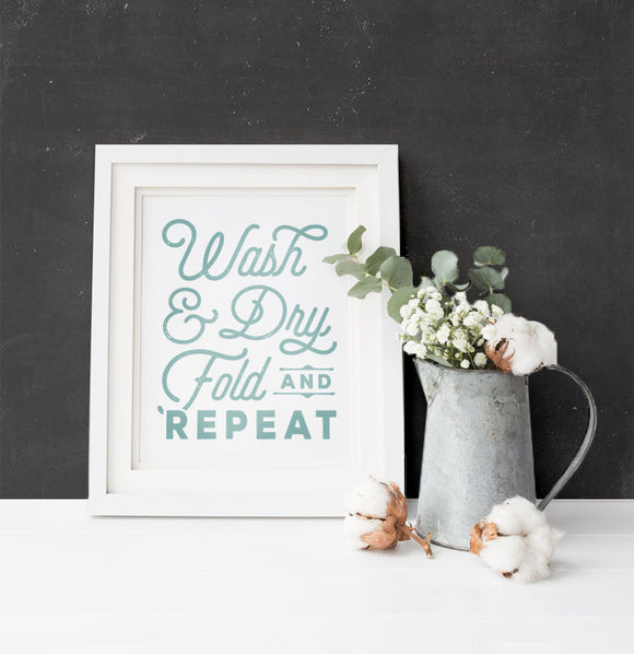 Laundry Room Art Print - The Painted Porch Co