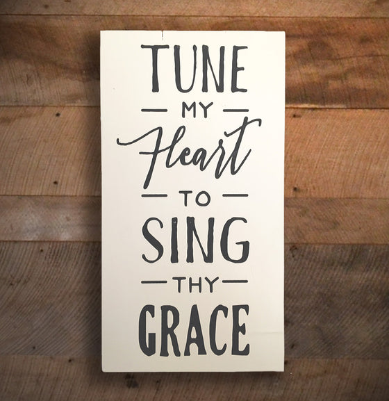 "Hymn Wall Sign ""Tune My Heart"" - The Painted Porch Co"