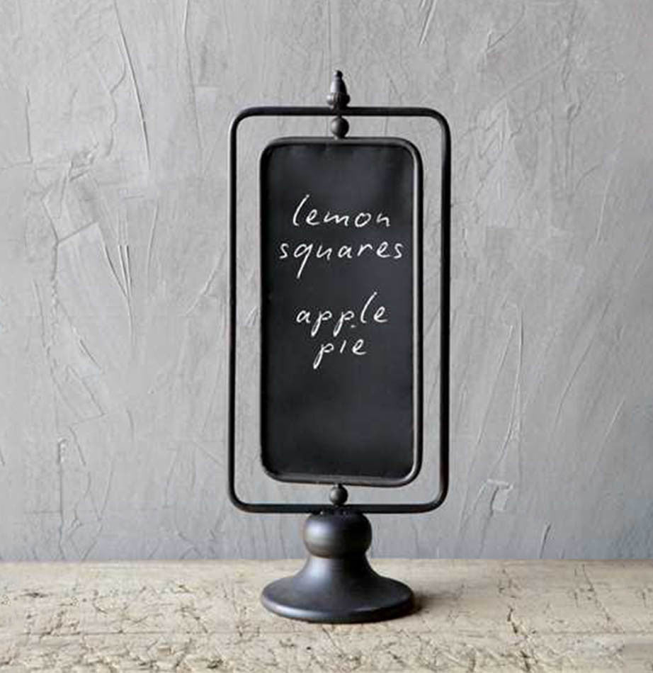 Metal Two Sided Swivel Chalkboard Stand - The Painted Porch Co