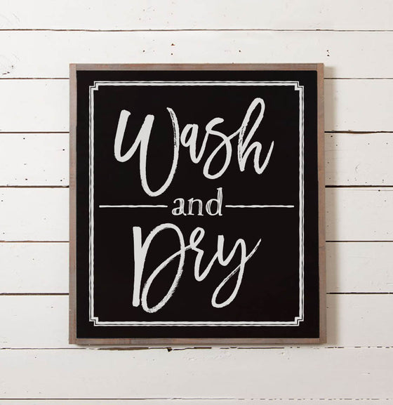 Wash + Dry Laundry Room Sign