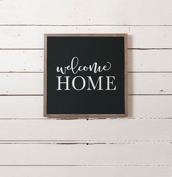 Welcome Home Wall Sign - The Painted Porch Co